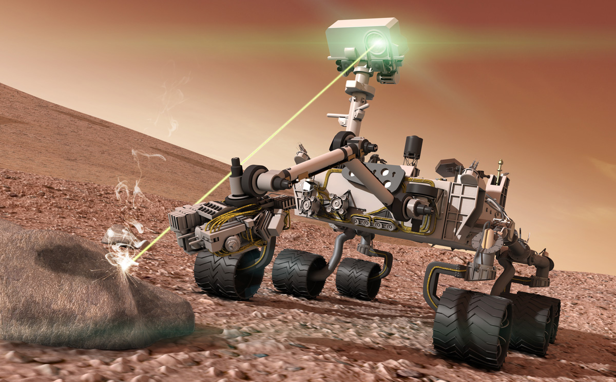Mars Rover Curiosity Laser Pics About Space